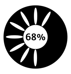 Sixty eight percent download icon simple style vector