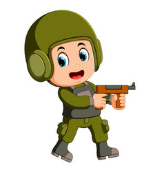 soldier with rifle vector image
