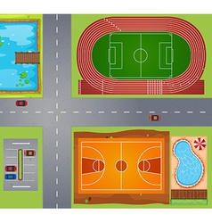 Sport area vector image
