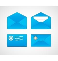 Stamped envelopes vector image