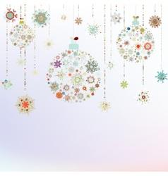 Stylized Christmas Balls On beige EPS 8 vector