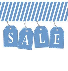 tag sale in blue color design vector image