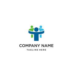 teamwork people logo design concept vector image