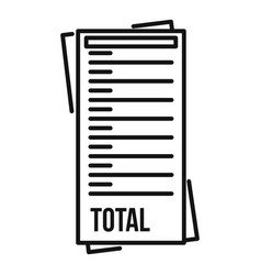 Total payment utilities icon outline style vector