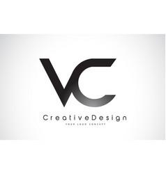 Vc v c letter logo design creative icon modern vector