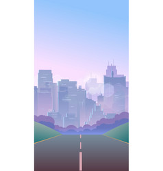Vertical city background vector