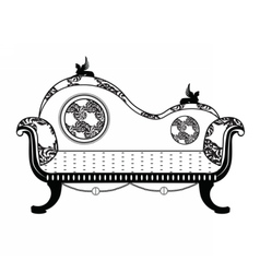 Vintage Classic sofa in rounded shape vector