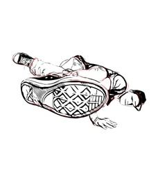 breakdancer vector image vector image
