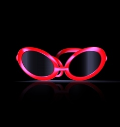 dark and abstract eyeglasses vector image vector image