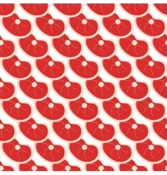 Fresh meat seamless pattern flat style vector image vector image