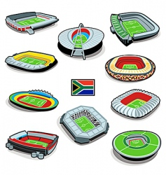 south african soccer stadiums vector image vector image