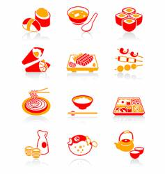 sushi-bar icons juicy series vector image