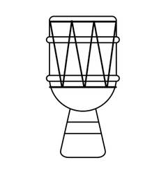 brasilian drum percussion bongo outline vector image