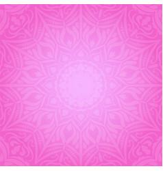 ethnic decorative round element pink soft vector image