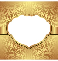 golden background vector image vector image