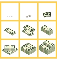 Levels increase business income money vector image