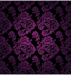 seamless pattern ornament lilac floral background vector image vector image