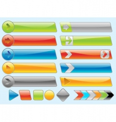shiny internet buttons set 2 vector image vector image