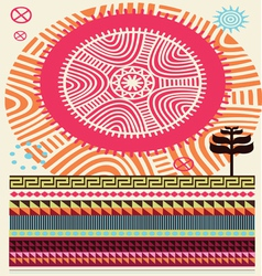 africa colors vector image vector image