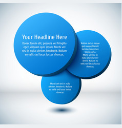 Blue 3D circle background vector image