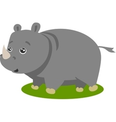 Cute Safari Rhino Isolated vector image vector image