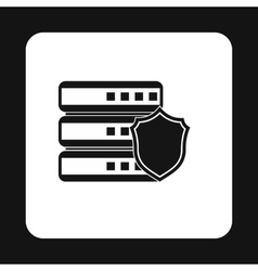 Data storage security icon simple style vector