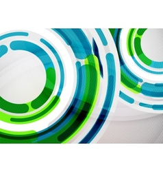 Futuristic rings and circles design template vector image