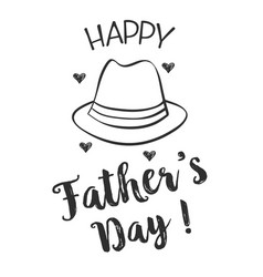 happy father day hand draw design collection vector image vector image