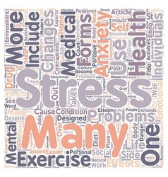 Stress and anxiety in post modern society text vector