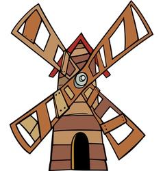 windmill clip art cartoon vector image vector image