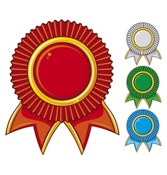 a collection of awards icon colored vector image vector image