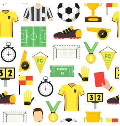 cartoon soccer sport game background pattern vector image vector image
