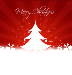 Chrismas tree with gifts box and copy-space vector image vector image