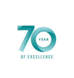 70 year excellence template design vector