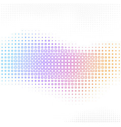 Abstract background with halftone square vector