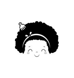 Afro cute girl design flat design vector