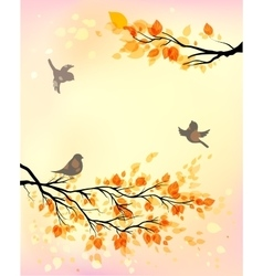 Autumn morning vector
