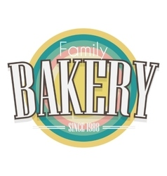 Bakery Label design vector