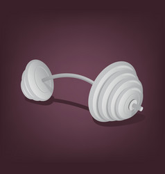 Barbell isolated icon vector
