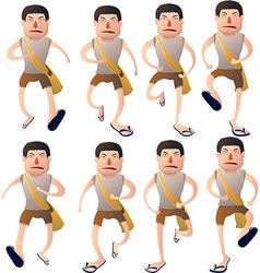Boy walk cycle vector image