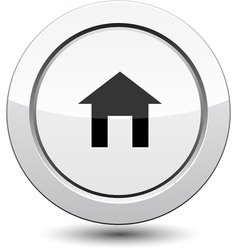 Button with House Icon vector
