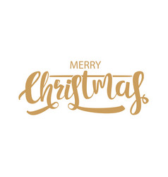 Calligraphic christmas holiday greeting card vector