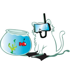 cat fish vector image