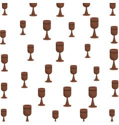 chalice pattern background vector image