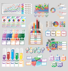 Color infographics with different individual vector