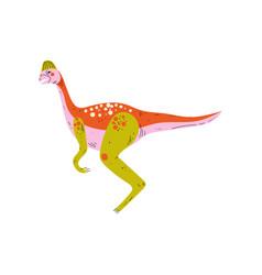 colorful dinosaur cute prehistoric animal vector image