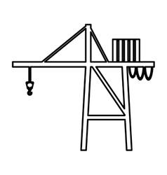Crane service isolated icon vector
