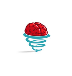 Creative brain storm logo vector