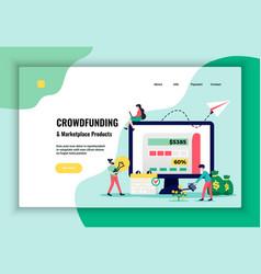 crowdfunding concept website design vector image