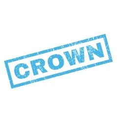 Crown Rubber Stamp vector image